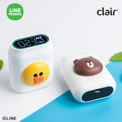 [클레어] 라인프렌즈 샐리 휴대용 미세먼지 측정기