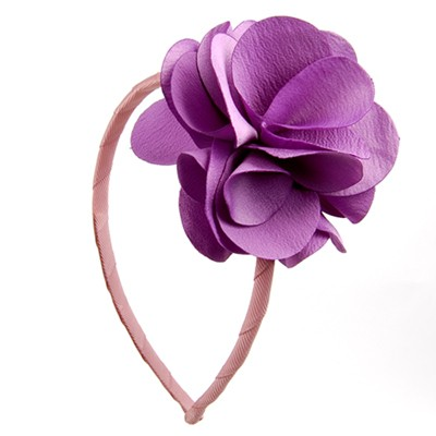 [헤어보우]Lovely Flower 헤어밴드-Violet