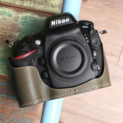 씨에스타 D800 가죽케이스 - 미네르바 카키(니콘D800전용)핸드메이드