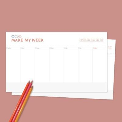 MAKE MY WEEK 주간 플래너 100매 메모지