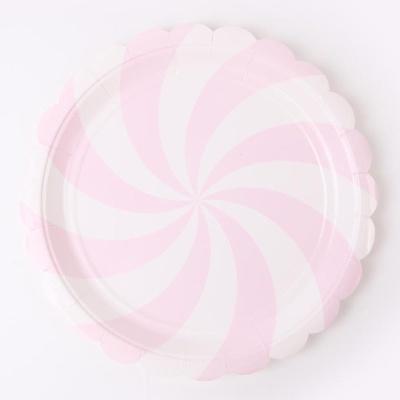 롤리팝 파티접시 23cm - 핑크(6입)