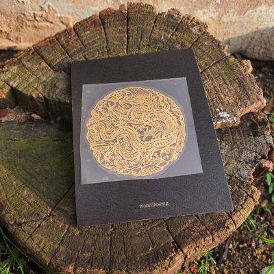 왕을 탐하다 골드 곤룡포 전통 문양 메탈 스티커