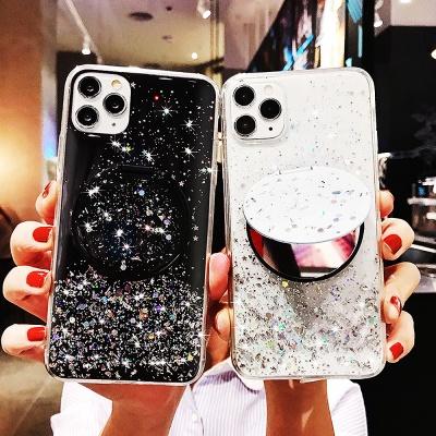 갤럭시s10/플러스 반짝이 투명젤리 휴대폰 미러케이스