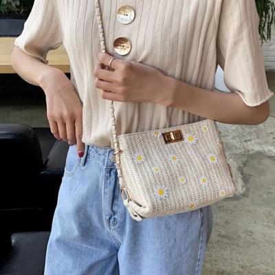 여름 플라워 크로스 라탄 가방 백 2컬러 휴대폰 수납