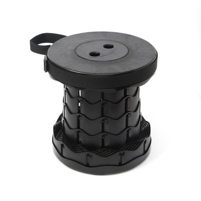 아코디언 폴딩 의자(블랙)/ 캠핑 휴대용 접이식의자