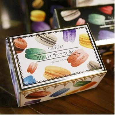 [대용량]마카롱박스 컬러풀 3구-접이식 50개