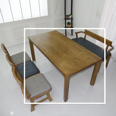 토도 고무나무 원목 식탁 테이블 6인