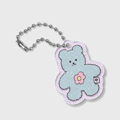 Blossom bear friends-green(글리터키링-퍼플)