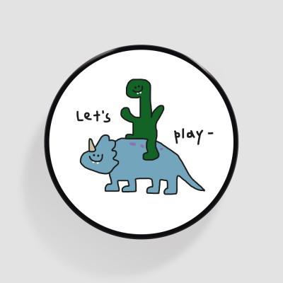 Tok 놀자 공룡 화이트