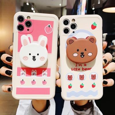 아이폰 커플 곰돌이 토끼 캐릭터 그립톡 실리콘케이스