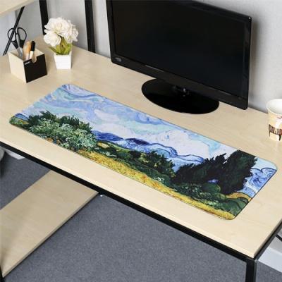 사이프러스가 있는 보리밭 대형 마우스패드(80x30cm)