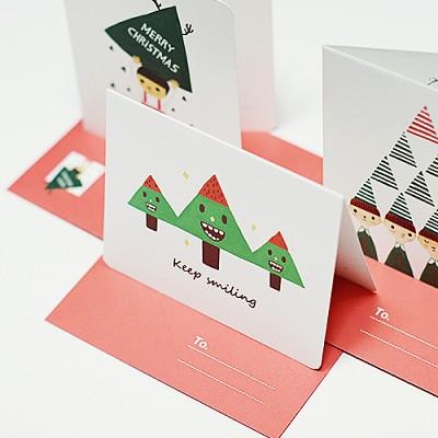 카드 세트-01 크리스마스 (드링키)