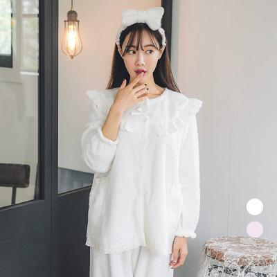 [쿠비카]극세사 반짝반짝 은사 투피스 여성잠옷 W253