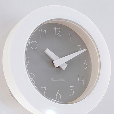 파스텔 이중흡착 욕실시계 (그레이) 시계 벽시계 추카