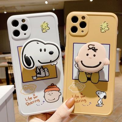 아이폰12 프로 맥스 미니/소년 강아지 그립톡 케이스