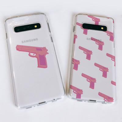 갤럭시S10/S10+/S10E Pink gun 소프트젤리케이스