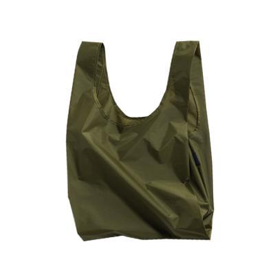 [바쿠백] 휴대용 장바구니 접이식 시장가방 Olive