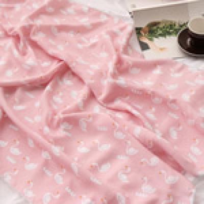 백조 인견 아기 여름이불  핑크