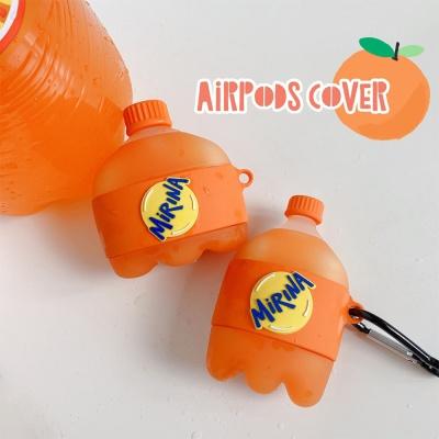 에어팟 1/2/3/프로 오렌지 음료/특이한 실리콘 케이스