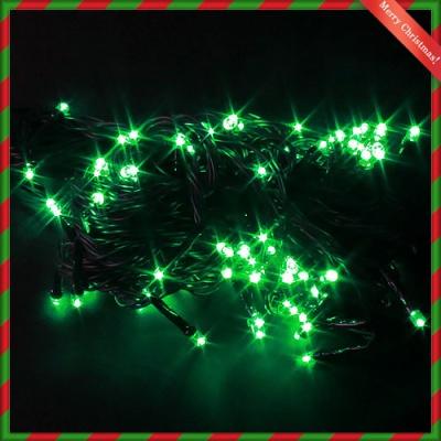 NEW 100구 검정선 LED 녹색전구(8M) (전원잭별매) (연