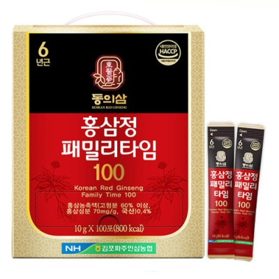 동의삼 6년근 홍삼정 패밀리타임 10gx100포