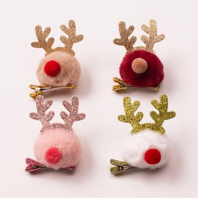 크리스마스 루돌프 머리핀 4종
