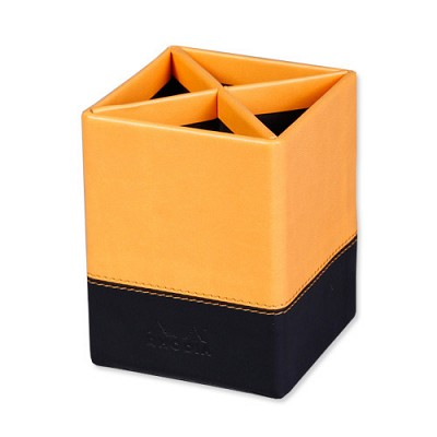 [로디아]뷰티크 가죽커버 연필꽂이 오렌지