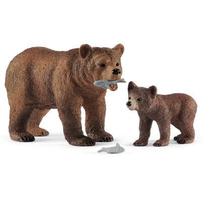 [슐라이히]어미 그리즐리 곰과 새끼 그리즐리 곰