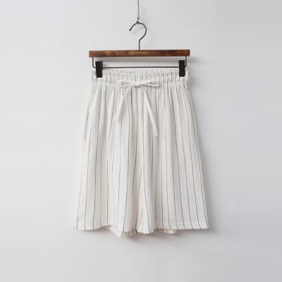 Linen Cotton Stripe Shorts