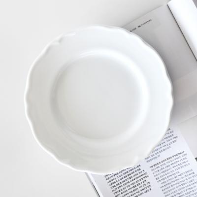 릴리스 화이트 플레이트 접시 21cm
