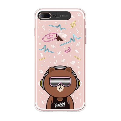 iPhone7 8Plus LINE FRIENDS BROWN CLUB Light UP Ca
