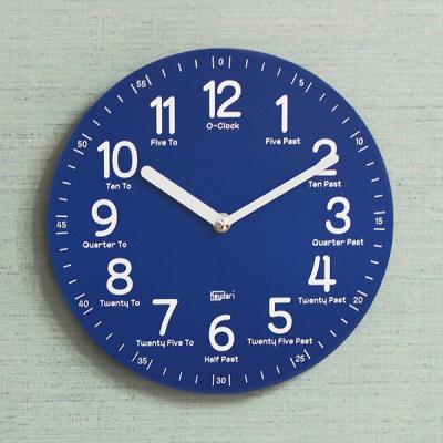 (kdrz115)키다리 저소음 영어 교육용 시계 파랑