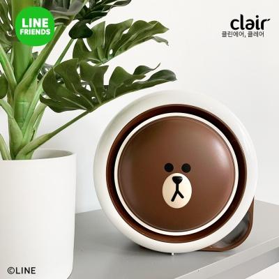 클레어 라인프렌즈 브라운 탁상용 공기청정기