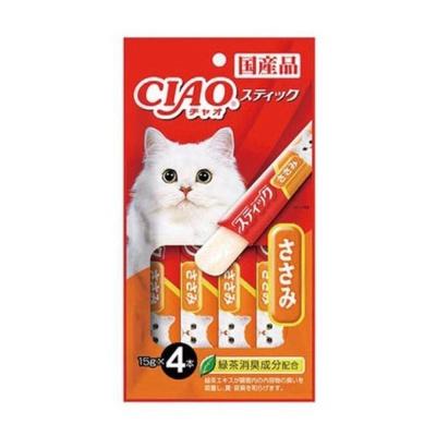 챠오츄루 스틱 닭가슴살 14gX4개 고양이간식 영양식