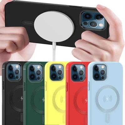 아이폰XR XS MAX X 맥세이프 단색 컬러 실리콘 케이스