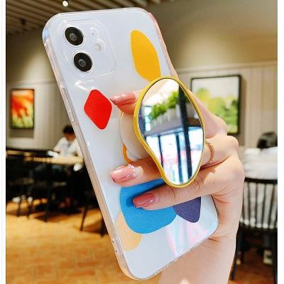 갤럭시s21울트라 플러스 레진 미러 그립톡 투명케이스