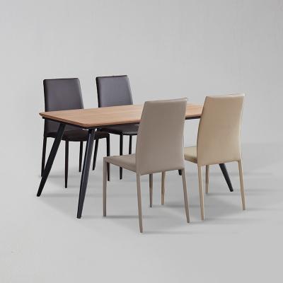 쿠니 무늬목 식탁 세트A 1600 + 의자 4개포함 (착불)