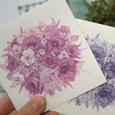 꽃다발 카드 S