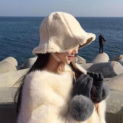포그니 양털 겨울 털모자 버킷햇