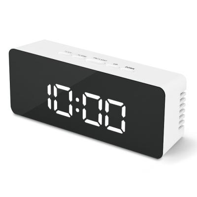 엑토 블링 LED 미러 시계 직사각형 SLH-06