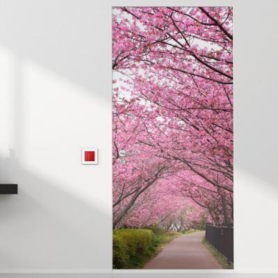 tm733-벚꽃이흐드러지는곳_현관문시트지