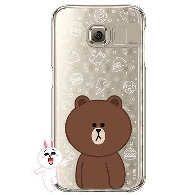 [SG DESIGN] Galaxy S7/ S7 Edge 라인프렌즈 브라운 LIGHT UP Case - GOLD(하드타입/라이팅)