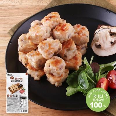 [허닭] 닭가슴살 큐브 불고기맛 100g