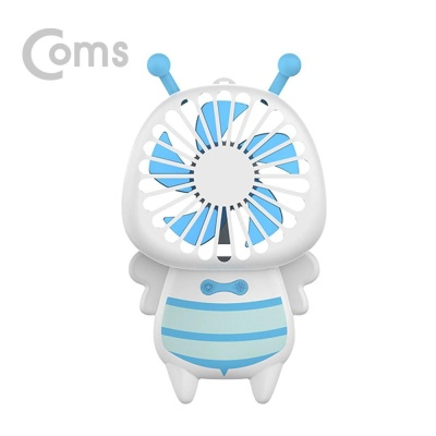 Coms 리큐엠 꿀벌(허니비) 핸디선풍기 블루