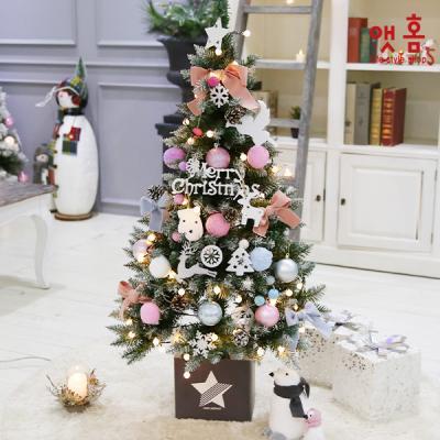 앳홈 파스텔핑크 크리스마스 트리 풀세트/1.3m