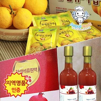 [엔젤쿡] 참샘 석류원액2병 + 유자즙60포 스페셜세트 AGCCSP1626