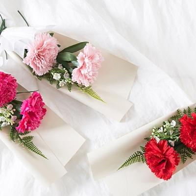 마쉬매리골드조화 카네이션 미니 꽃다발 (3COLOR)