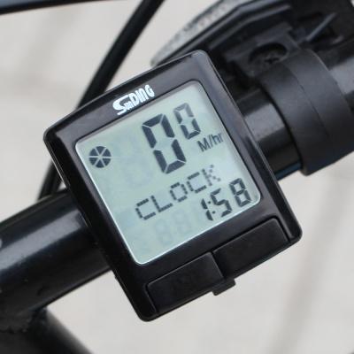 18기능 디지털 자전거속도계 /속도측정 유선속도계
