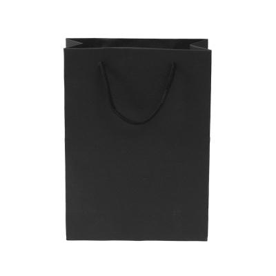 무지 세로형 쇼핑백(블랙)(19x26cm)