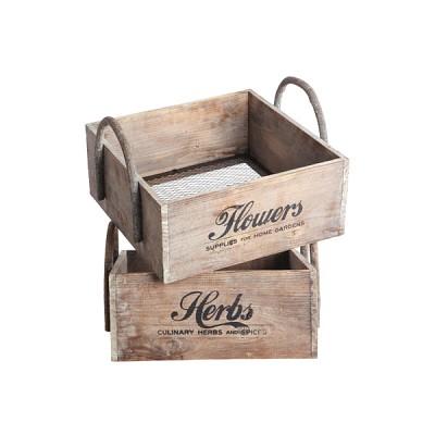 [House Doctor]Storage, asstd. 2 prints herbs/flowers Fc0421 수납박스